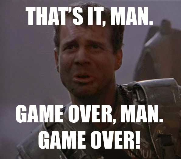 Bill Paxton   Game over man