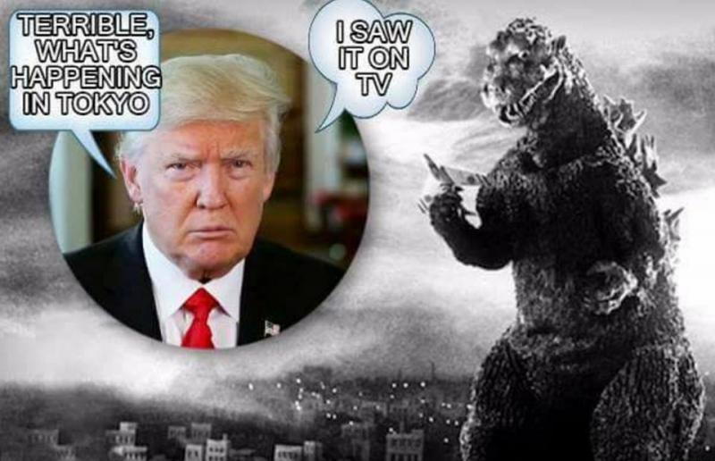 Trump saw Godzilla on TV