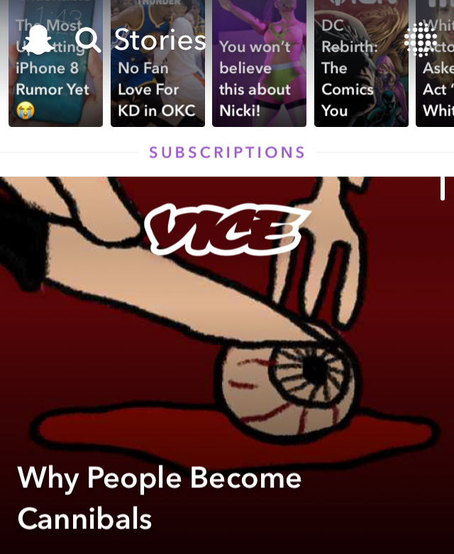 Why People Become Cannibals on VICE Snapchat