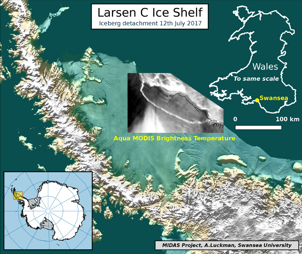 Biggest iceberg yet breaks from Antartica