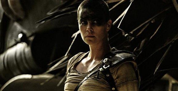 Furiosa from Fury Road with grease eye makeup