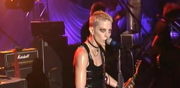 Joan Jett performing Crimson and Clover live