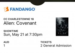 Alien Covenant   Fandango ticket