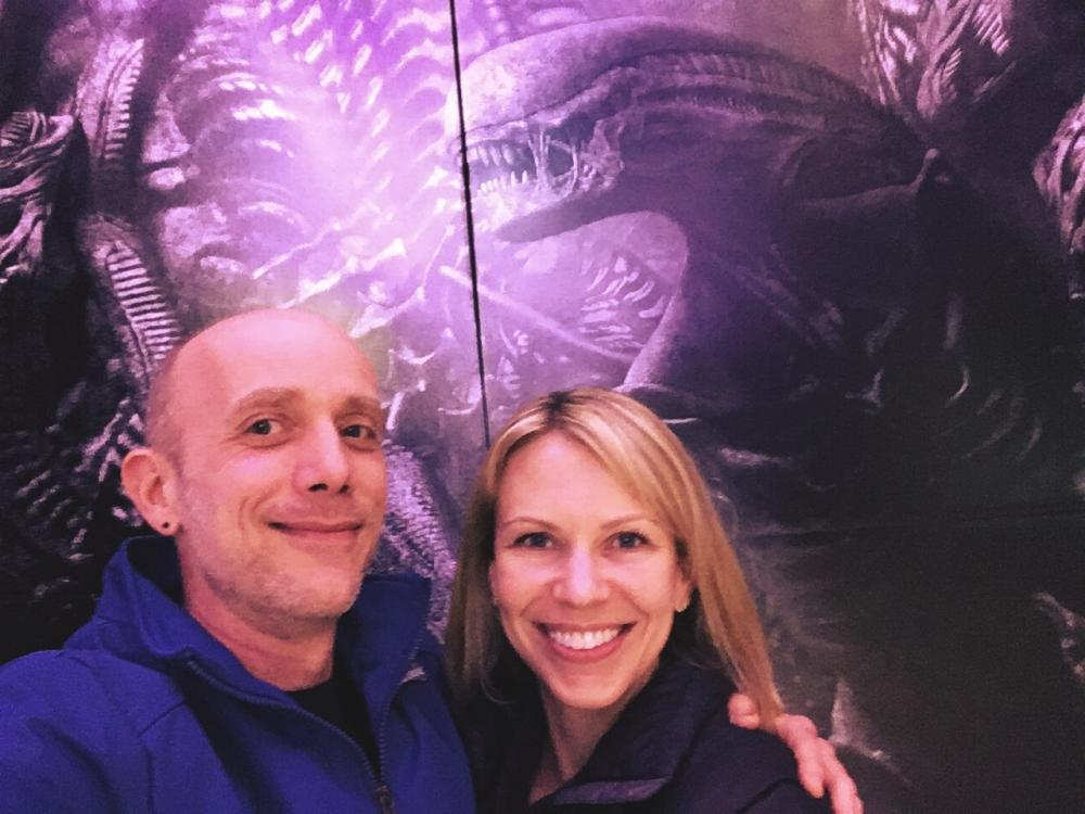 Sara and I at the Alien Covenant backdrop