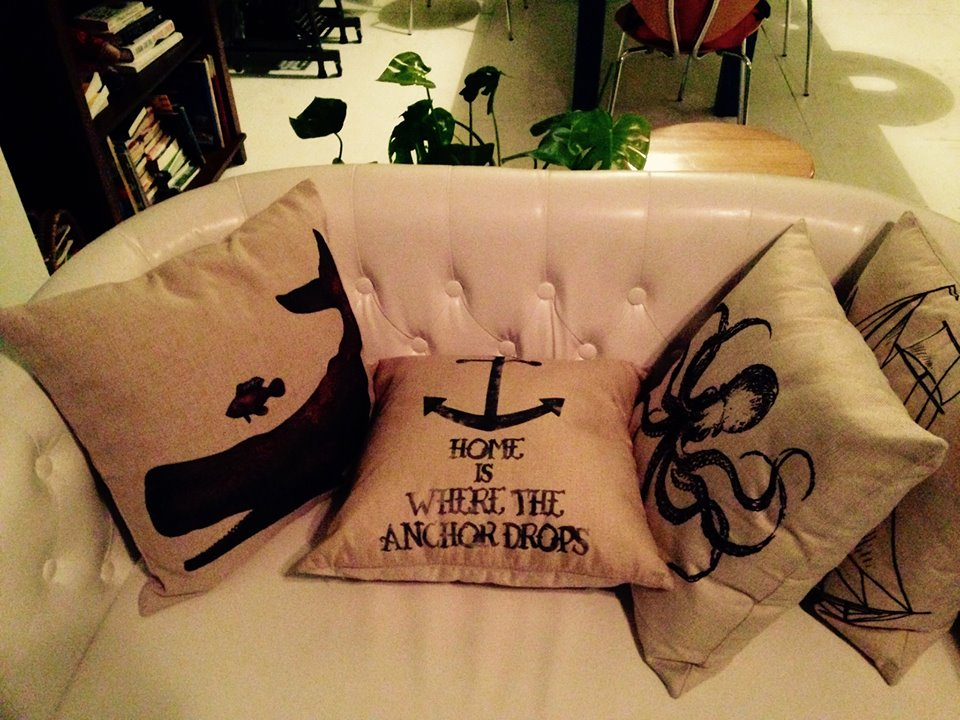 Sea themed pillows