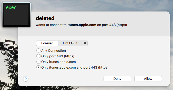 iTunes and deleted