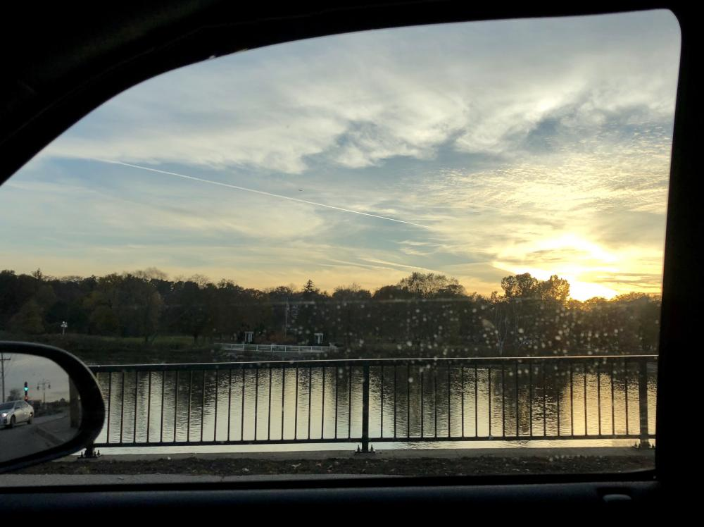 Driving home along the Fox River in St Charles