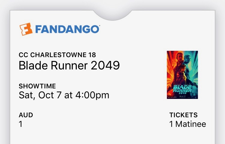 20171007 - Blade Runner 2049 ticket