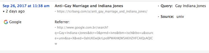 Gay Indiana Jones from Google