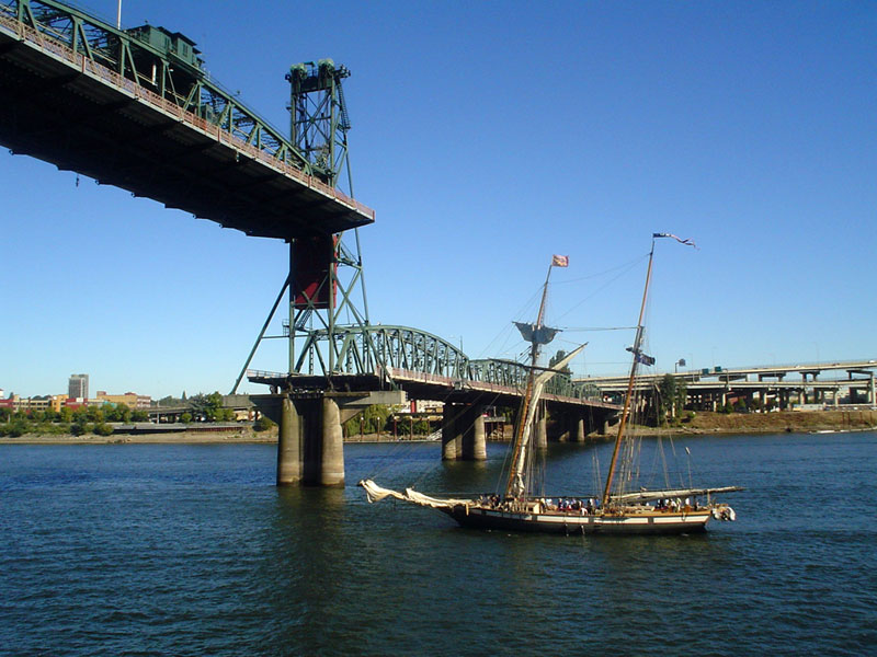 pirate ship on the Willamette River