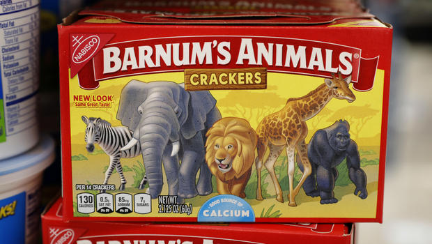Barnum's Animals Crackers out of the cages