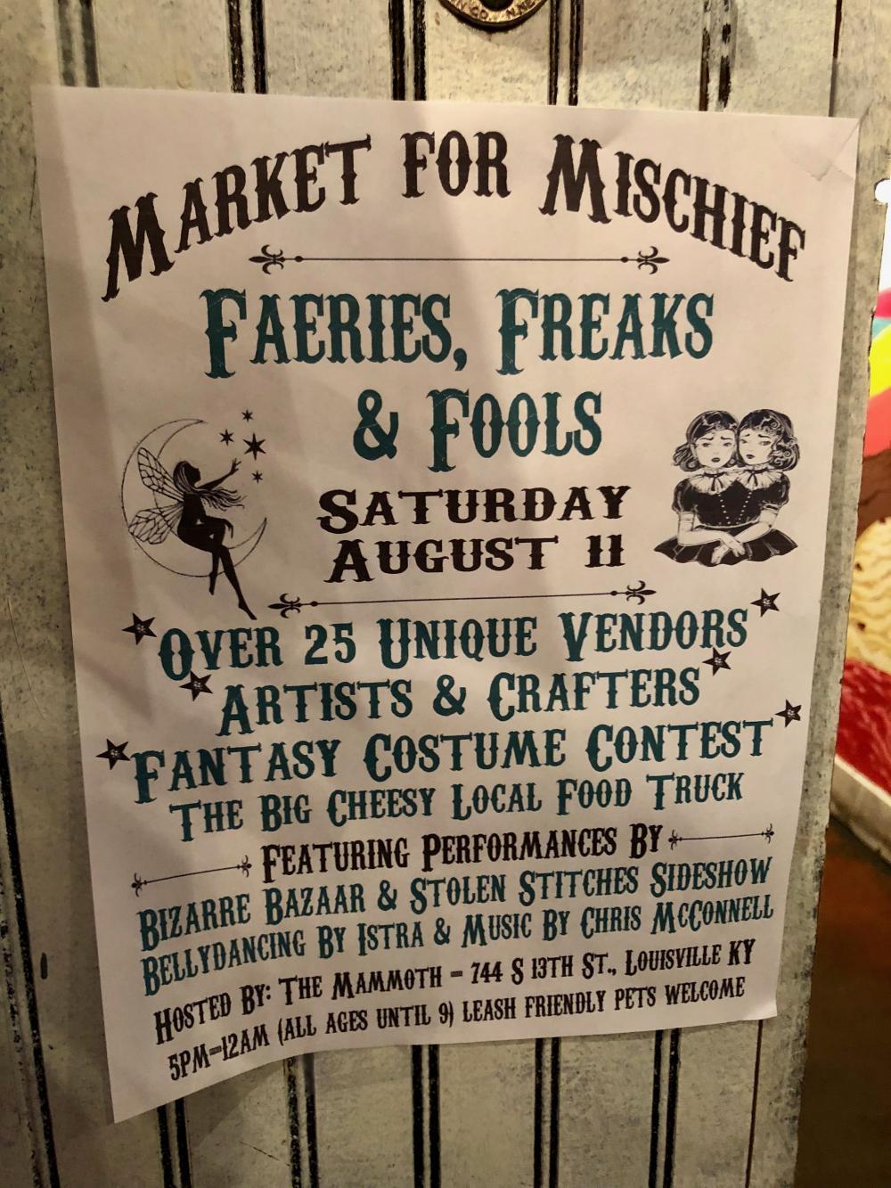 Market for Mischief flyer