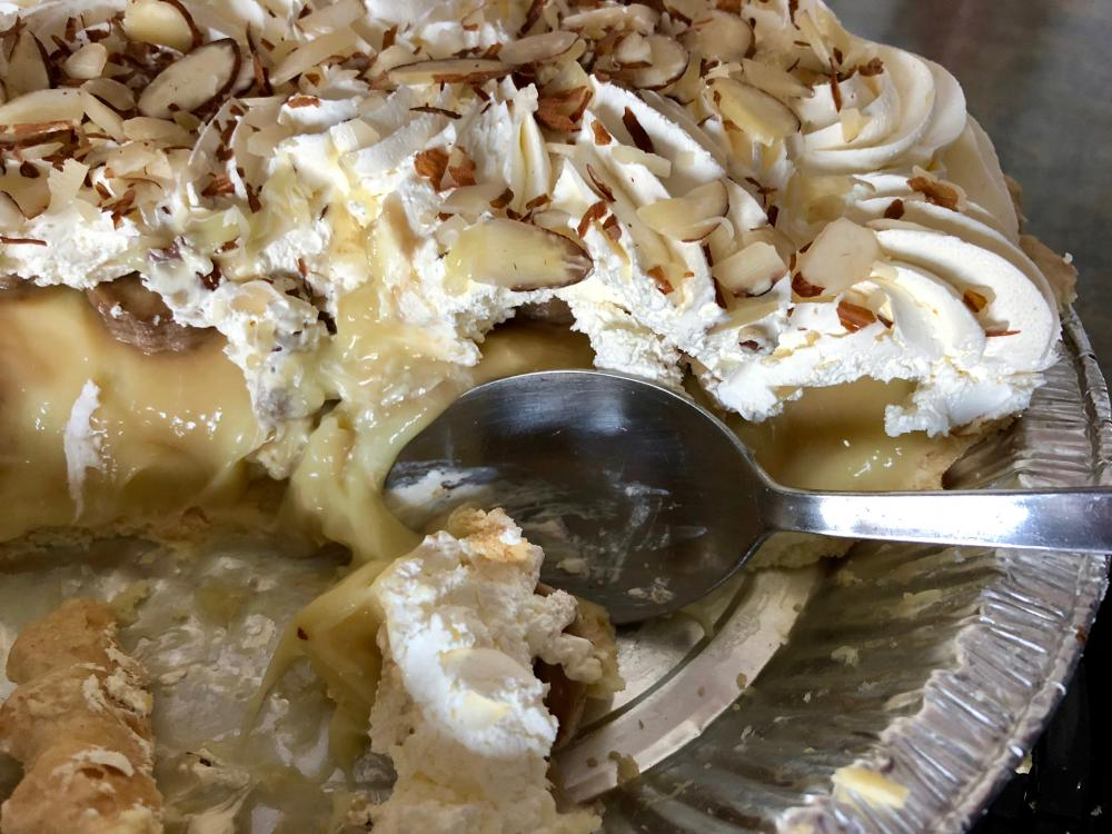 Banana Cream Pie with a spoon