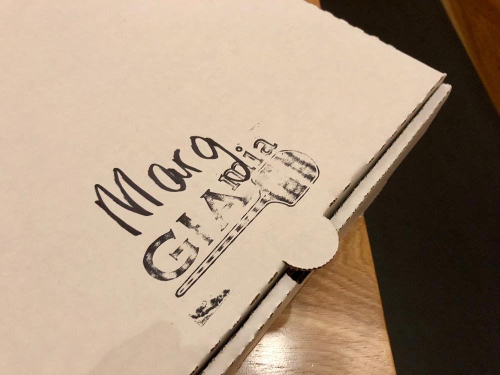 Generic pizza box from GIA MIA