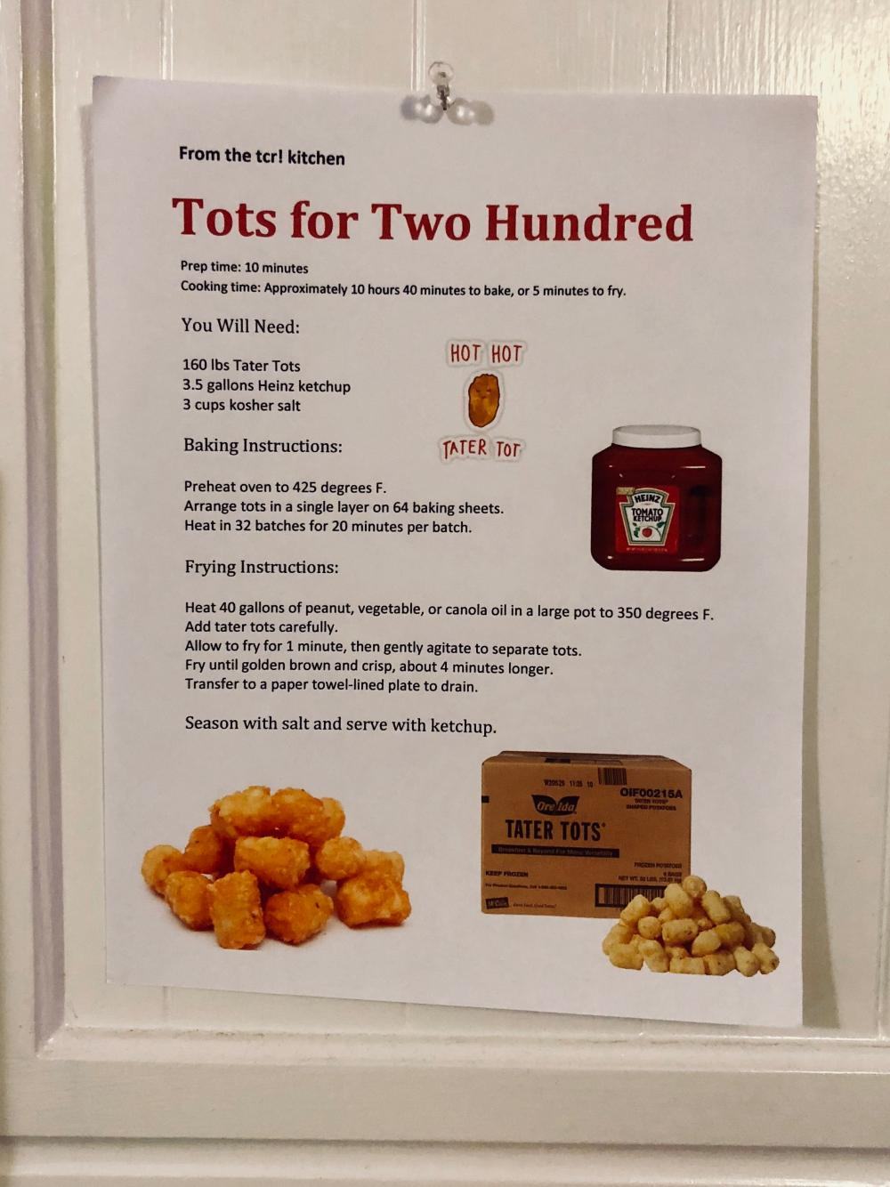 Tots for Two Hundred