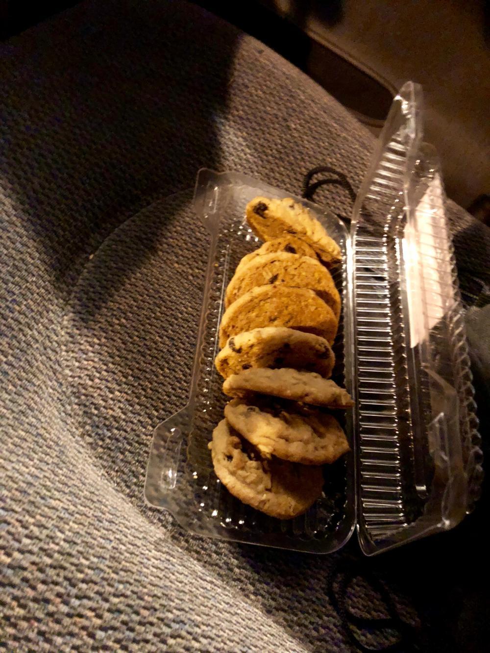 Cookies riding shotgun