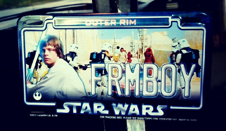 Outer Rim FRMBOY license plate