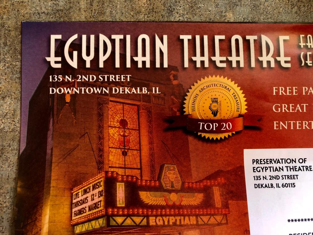 Egyptian Theatre August 25th