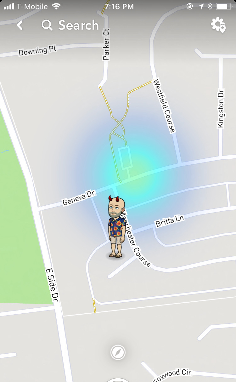 Snapchat todo right beside me
