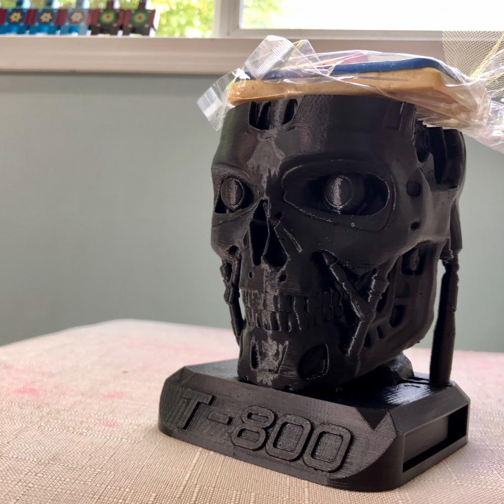 3D-printed Terminator bust
