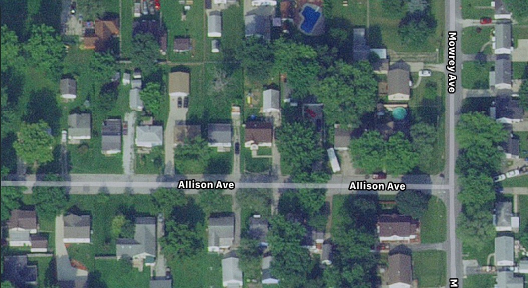 Allison Ave satellite map