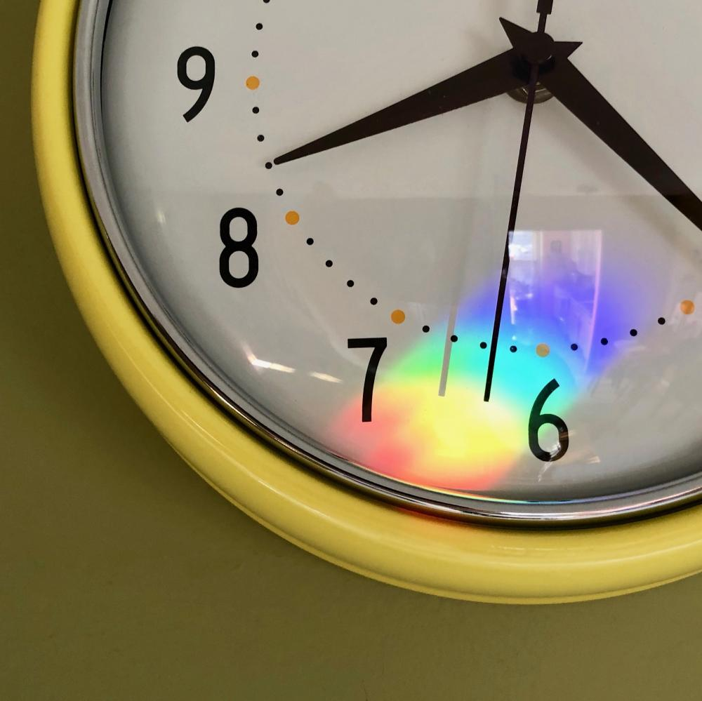 Morning rainbox clock