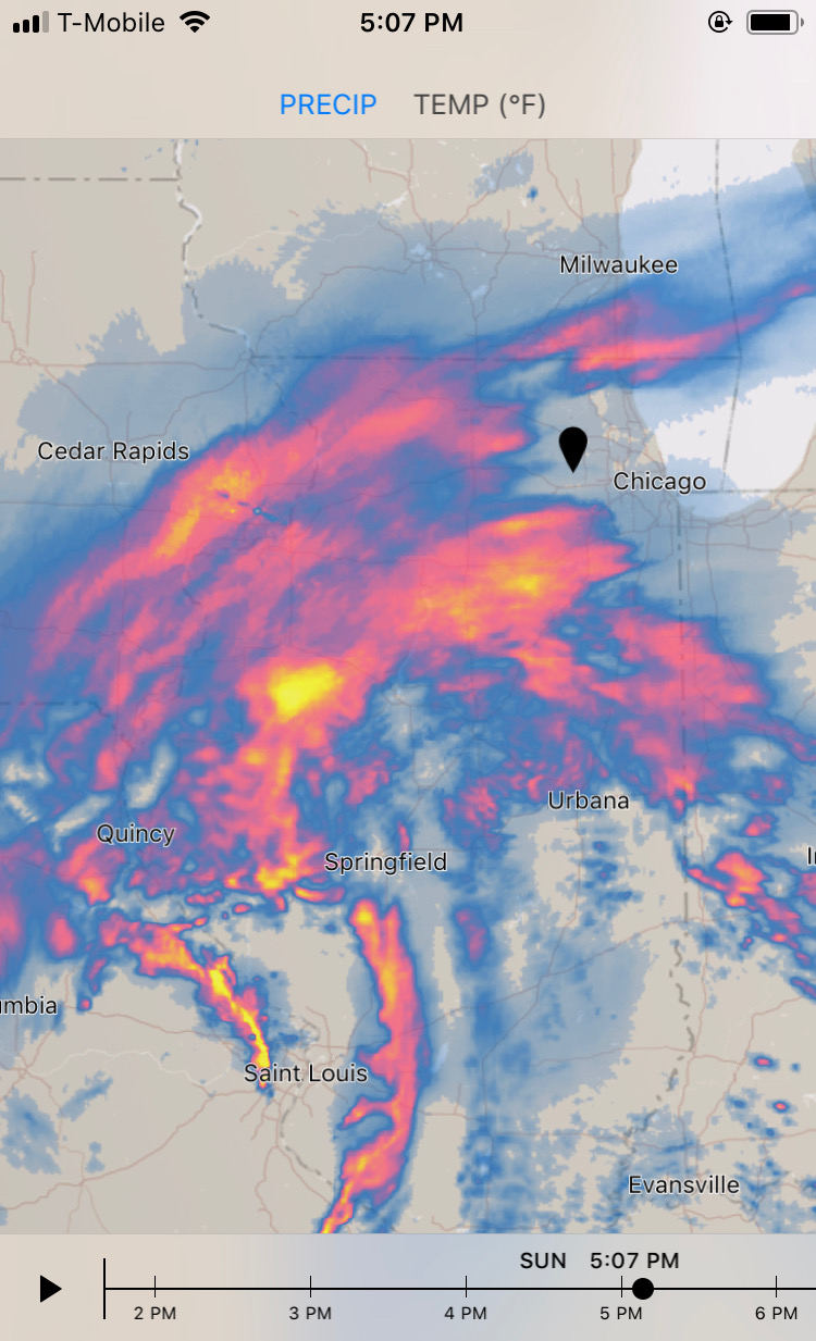 Blizzard 2018 radar map