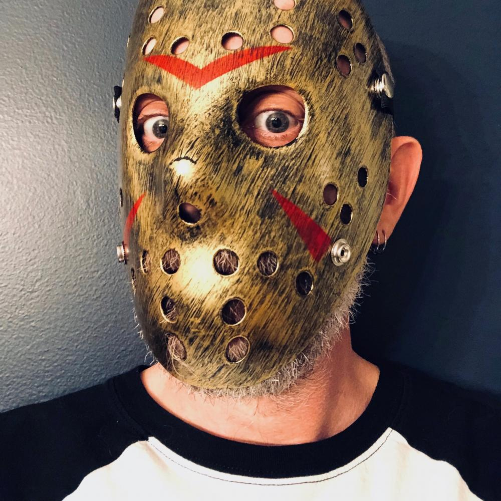Golden hockey mask