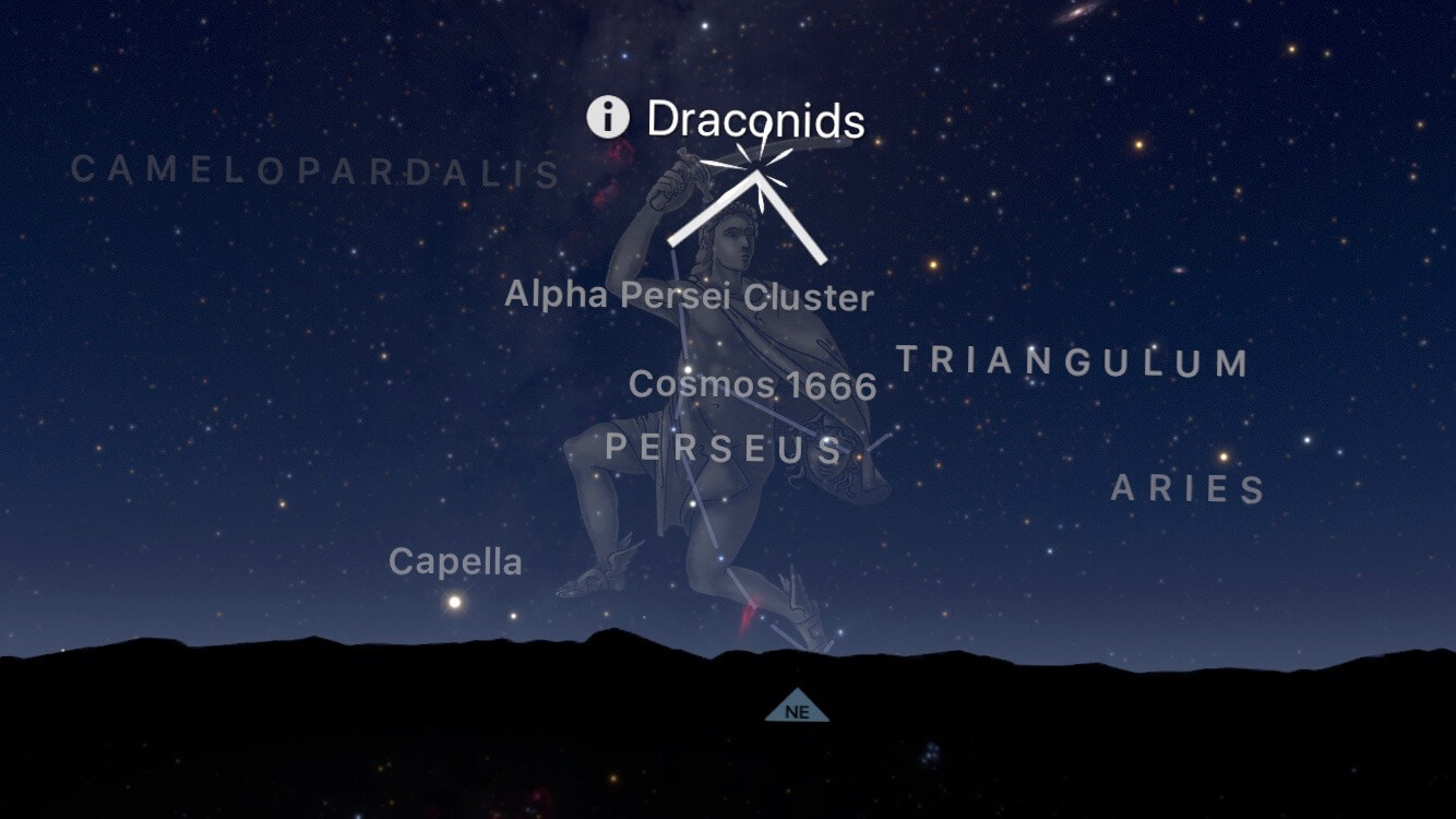 The elusive draconids eluded me