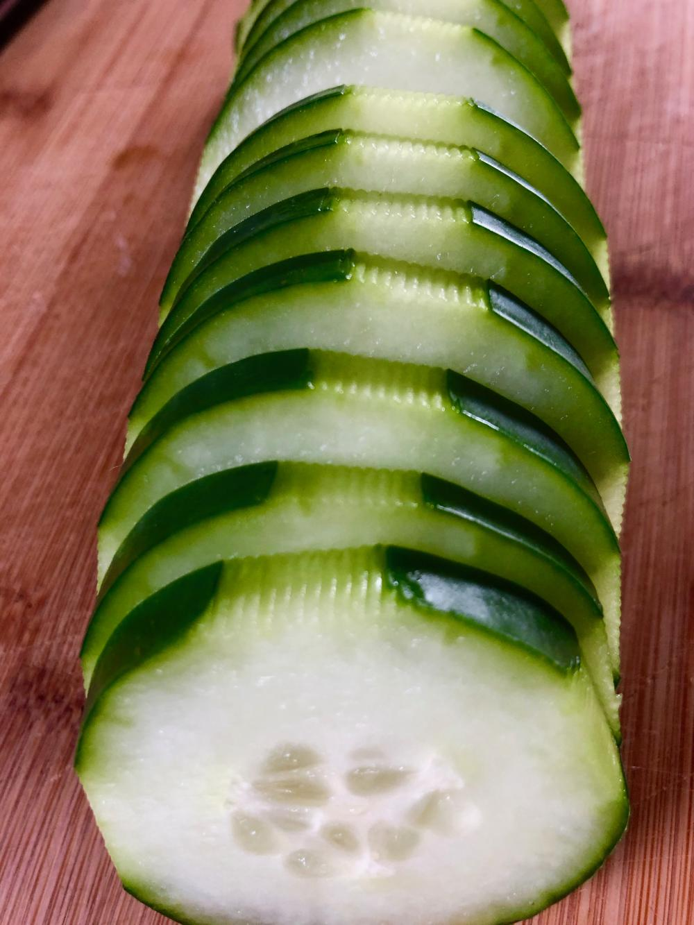 Getting fancy with a cucumber