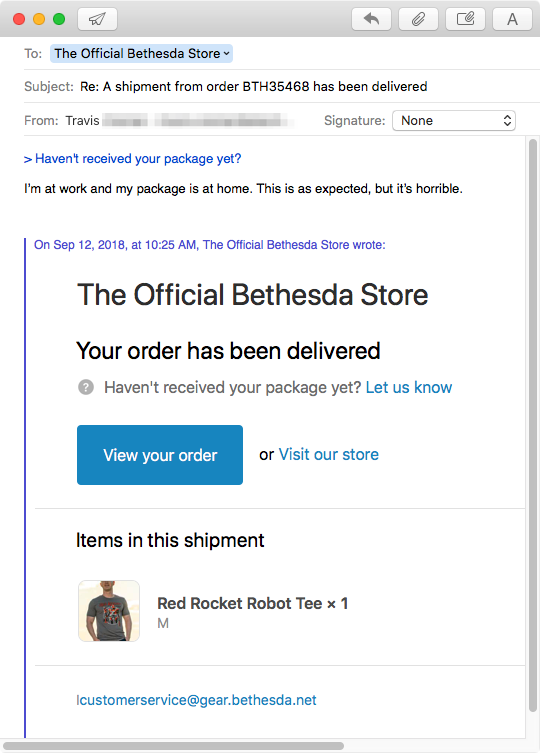 Bethesda Store email