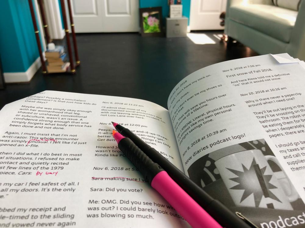 tcr! diaries for 2018 (the book proof reading)