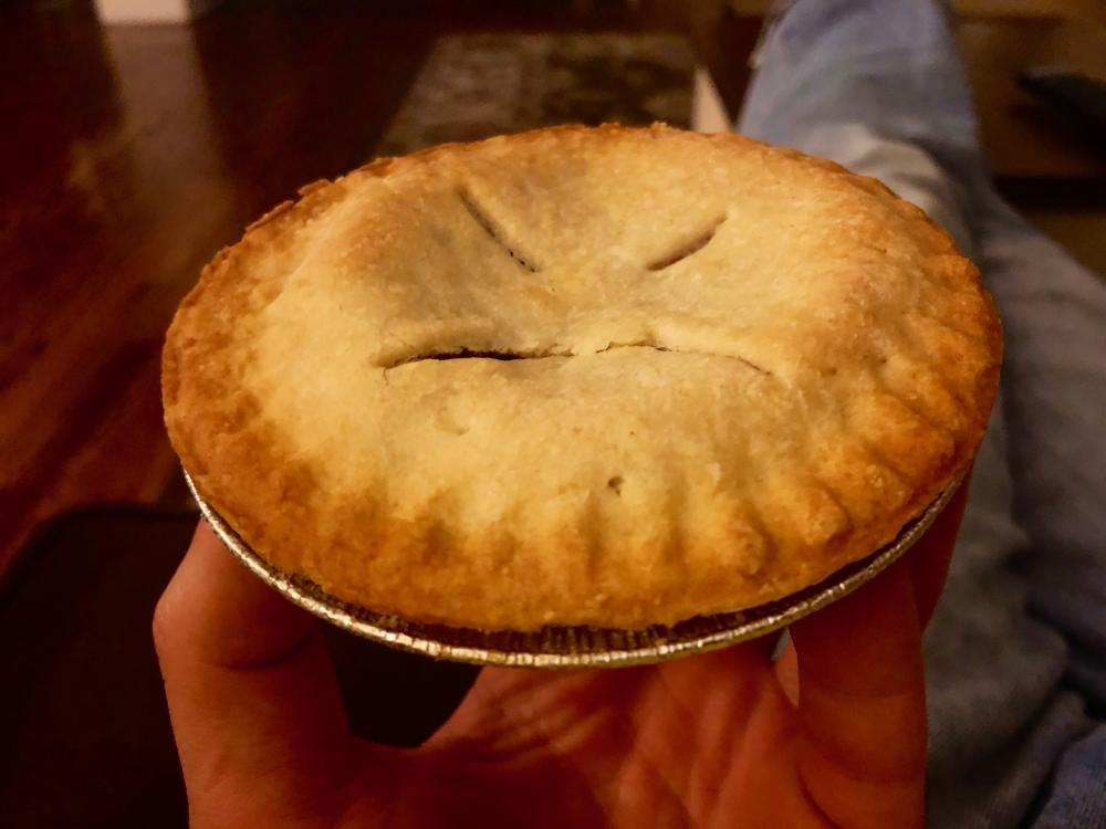 Frowning mini-pie