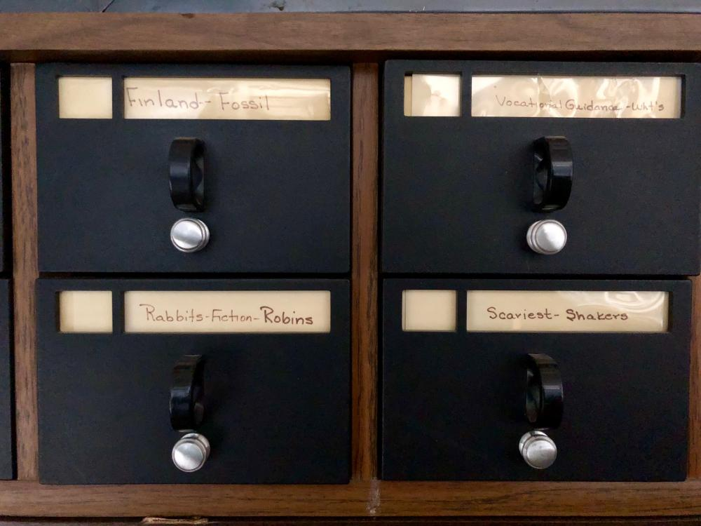 Card catalog featuring Finland to Fossil