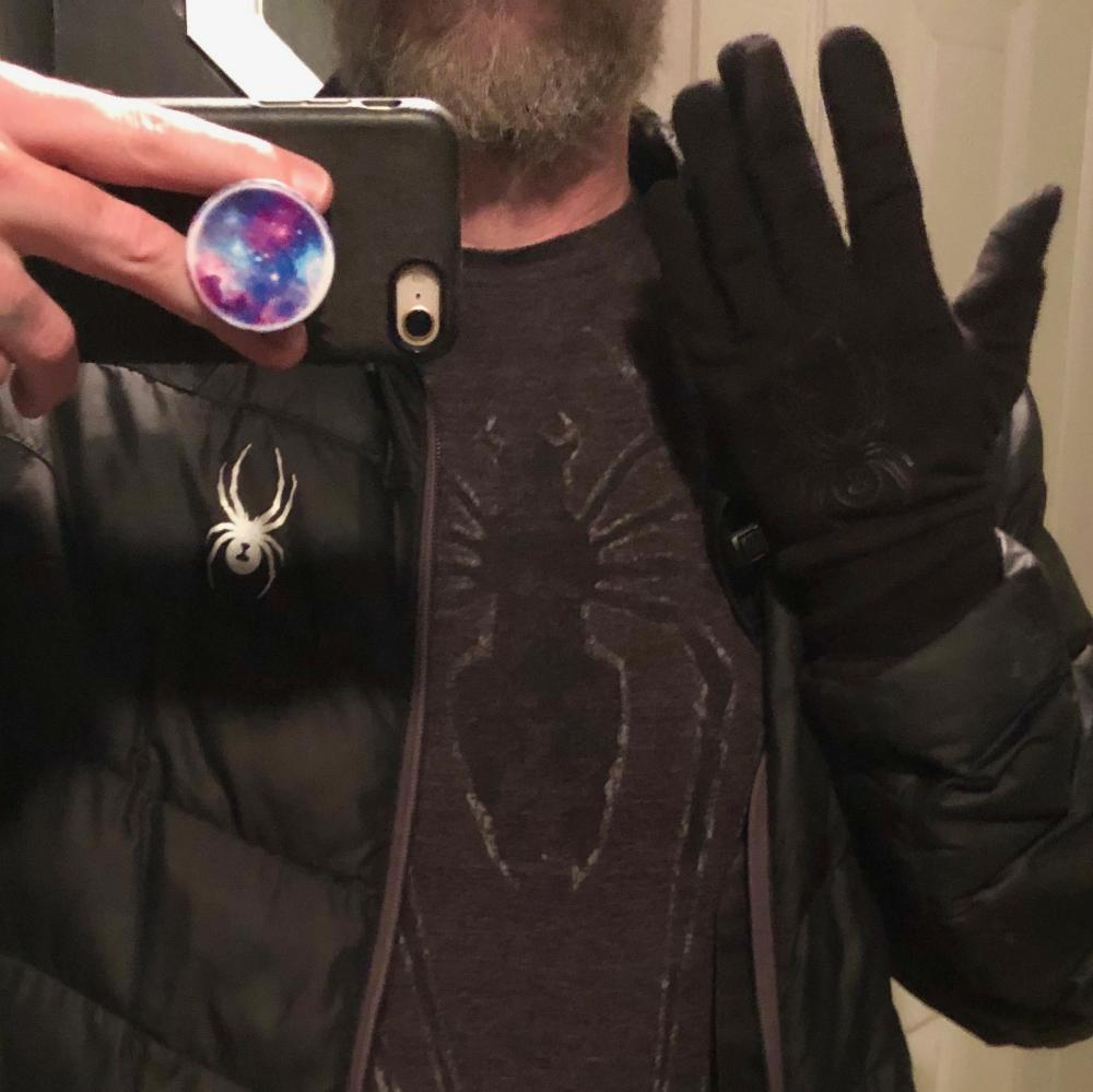 Spider shirt, spider coat, and spider gloves