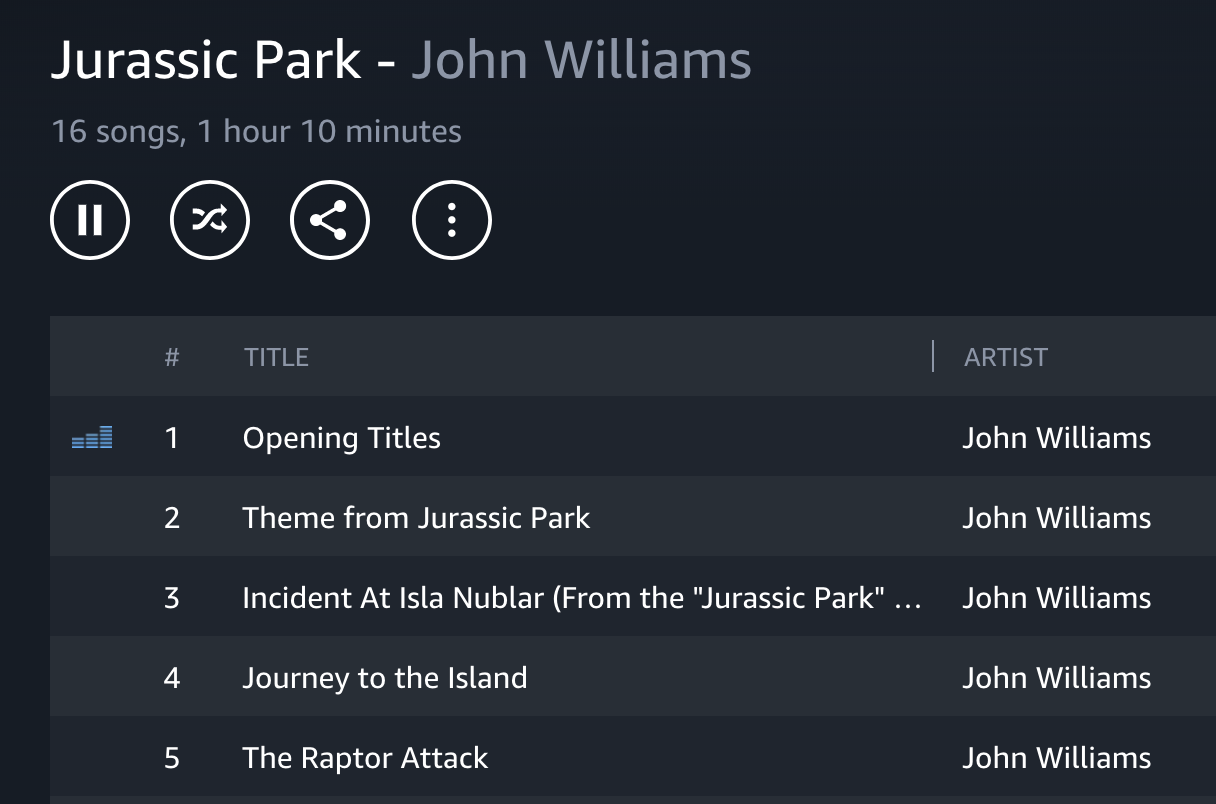 Jurassic Park - now playing