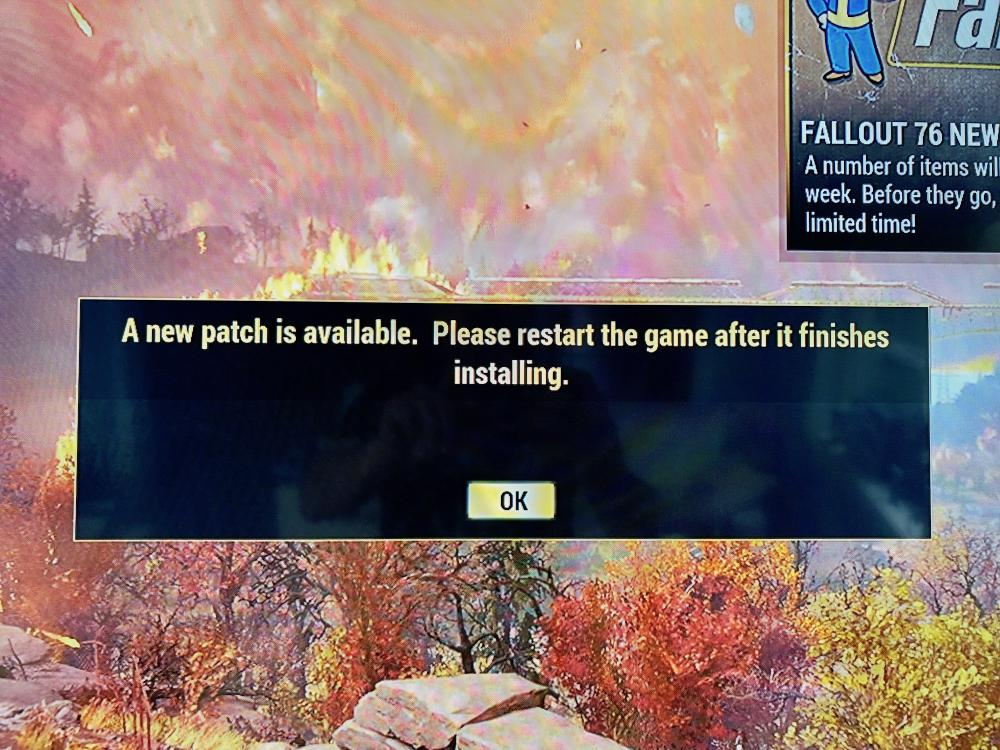 Fallout 76 - A new patch is available