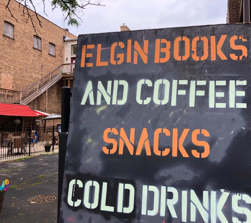 Elgin Books and Coffee Snacks Cold Drinks