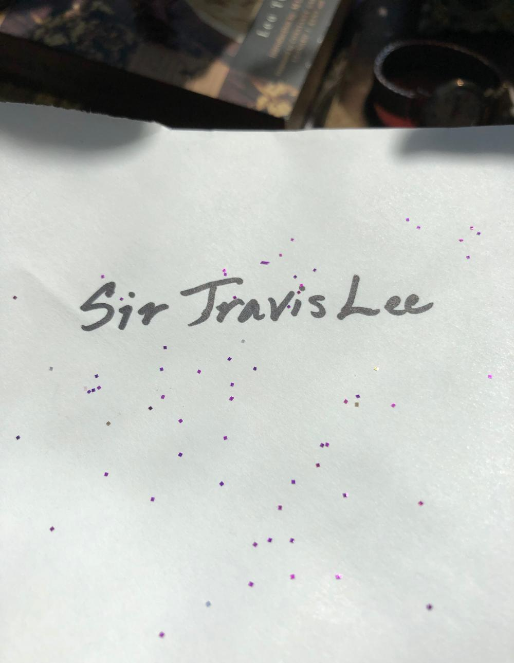 Sir Travis Lee with glitter