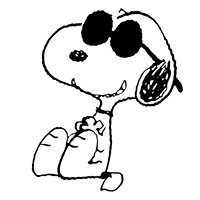 Snoopy in shades