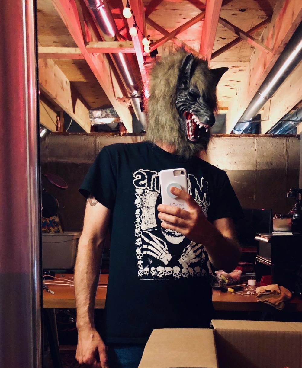 Werewolf mask selfie