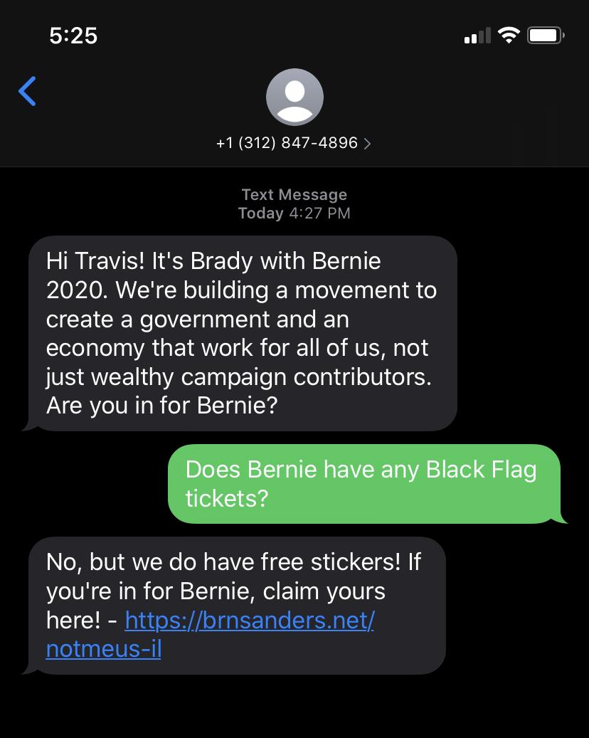 It's Brady with Bernie 2020