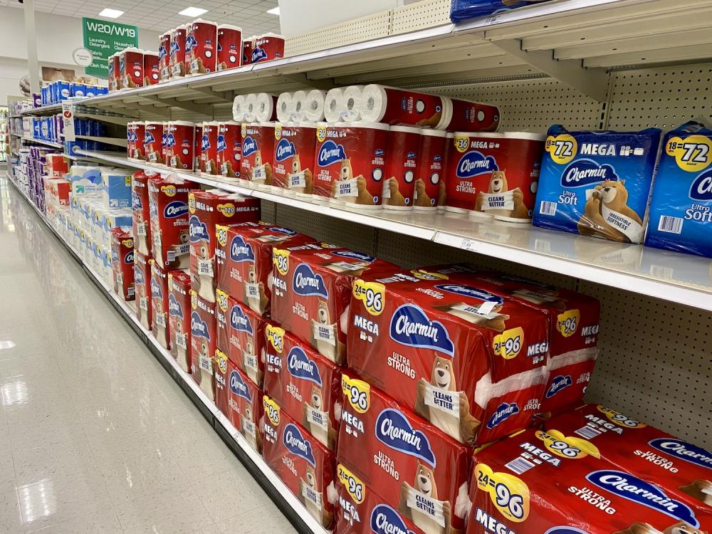 Toilet paper back on the shelves