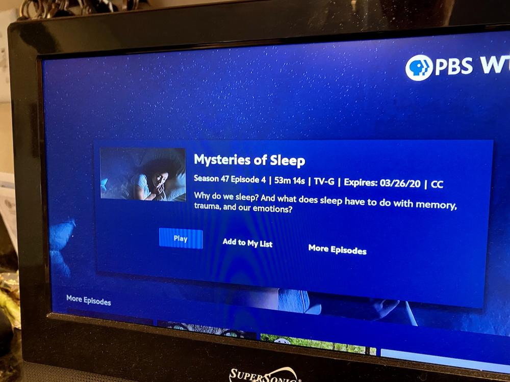 Mysteries of sleep on PBS