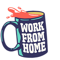 Work from home coffee mug