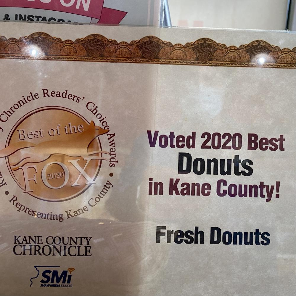 Voted 2020 Best Donuts in Kane County