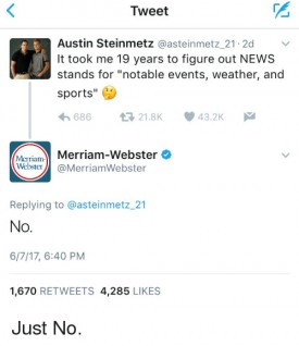 merriam webster says no to news acronym