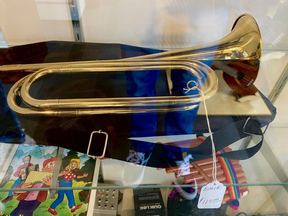 This brass bugle