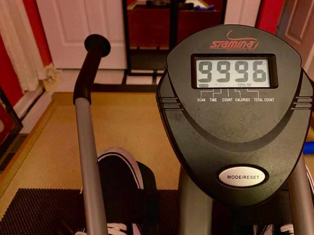 Rowing machine odometer rollover