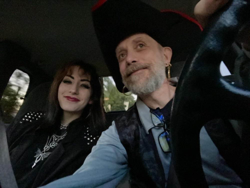 Maggie and I headed to a Halloween party